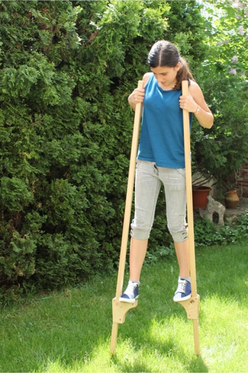 Wooden Stilts for children | Wooden Legs | Special Gift for Kids | Wooden Hooks | Eco friendly kids toy