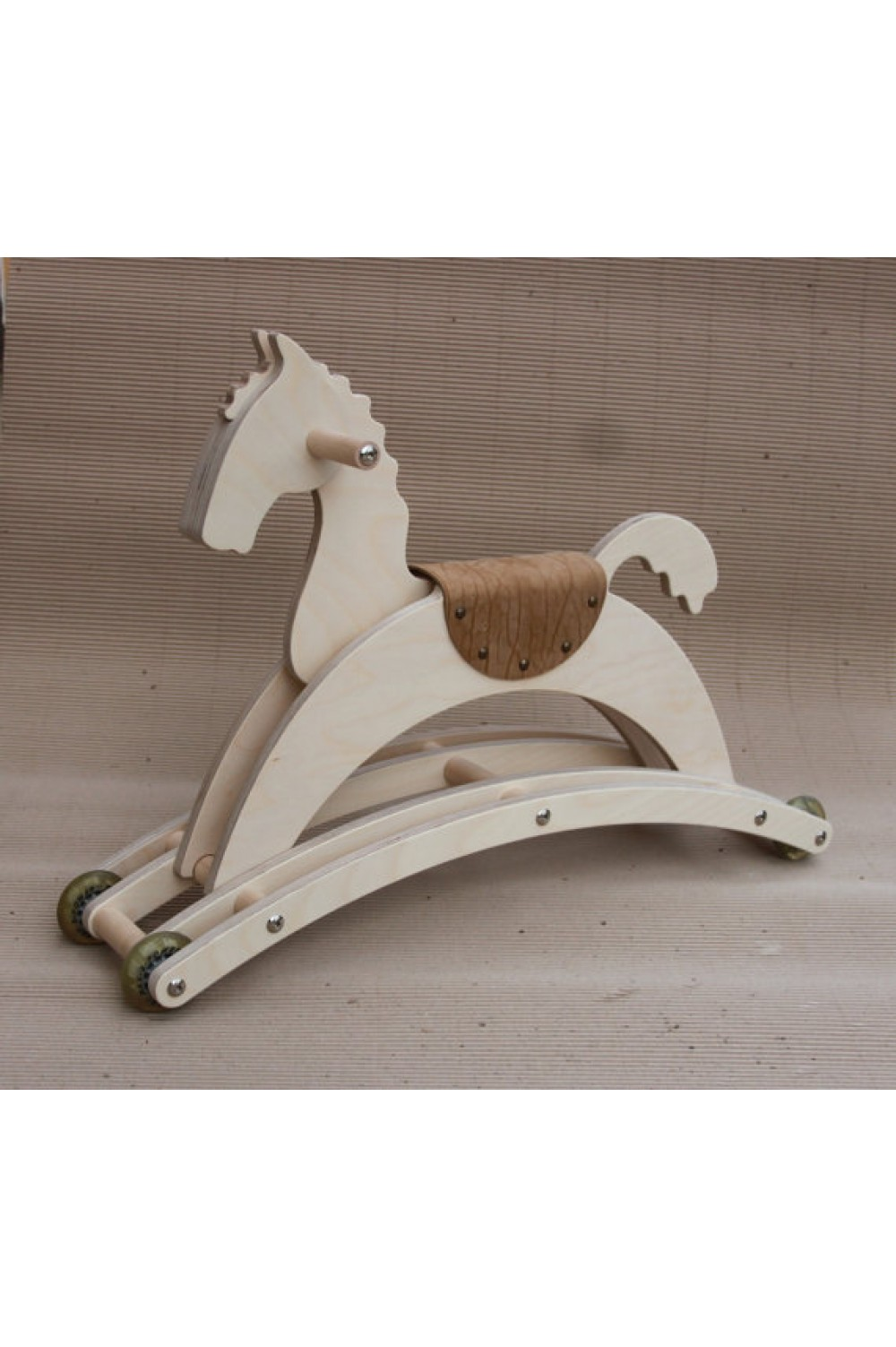 Wooden Horse on wheels | Special Present for Kids | Ideal First Gift | Eco friendly children toy