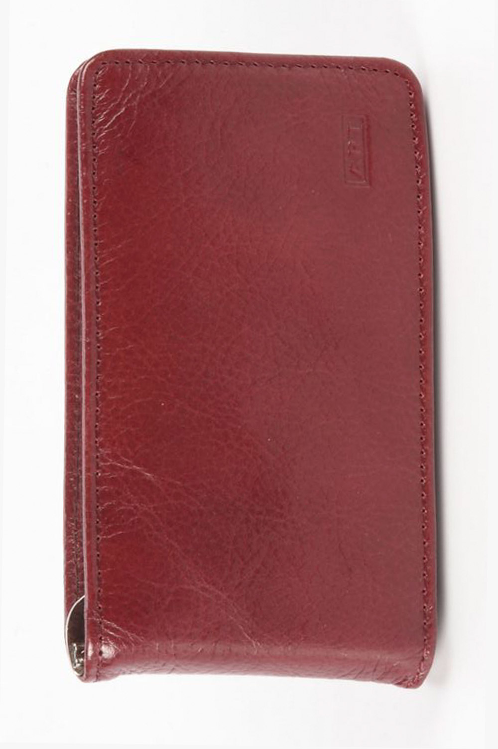 Art Bordeaux Leather business card holder with clip and magnet - 410845