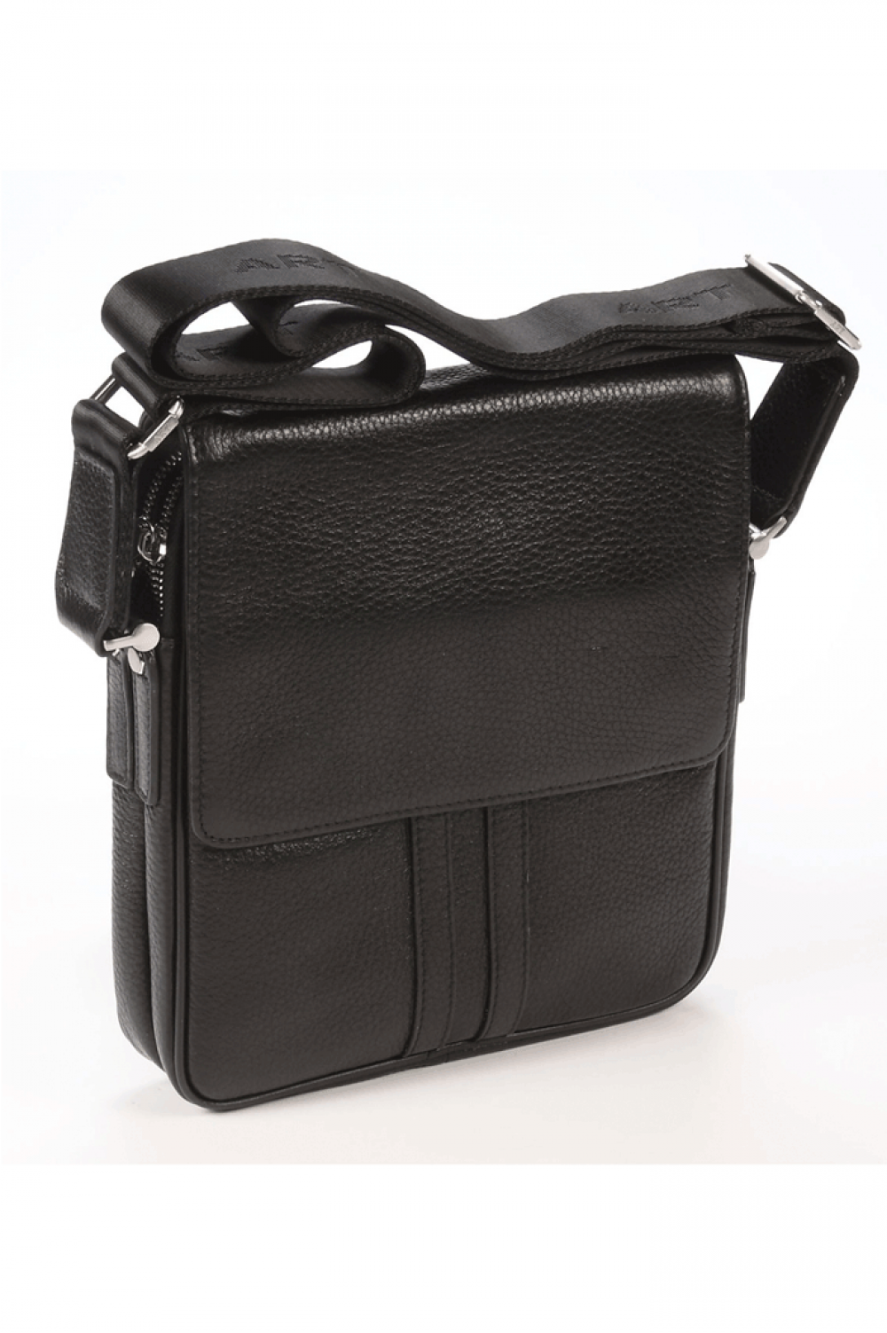 Sport bag from natural leather with magnetic closure - 441541