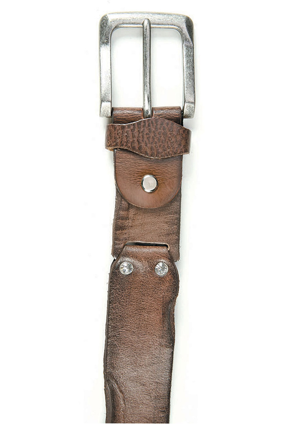 Art Sports Belt from natural dark brown skin from cowhide - 514034
