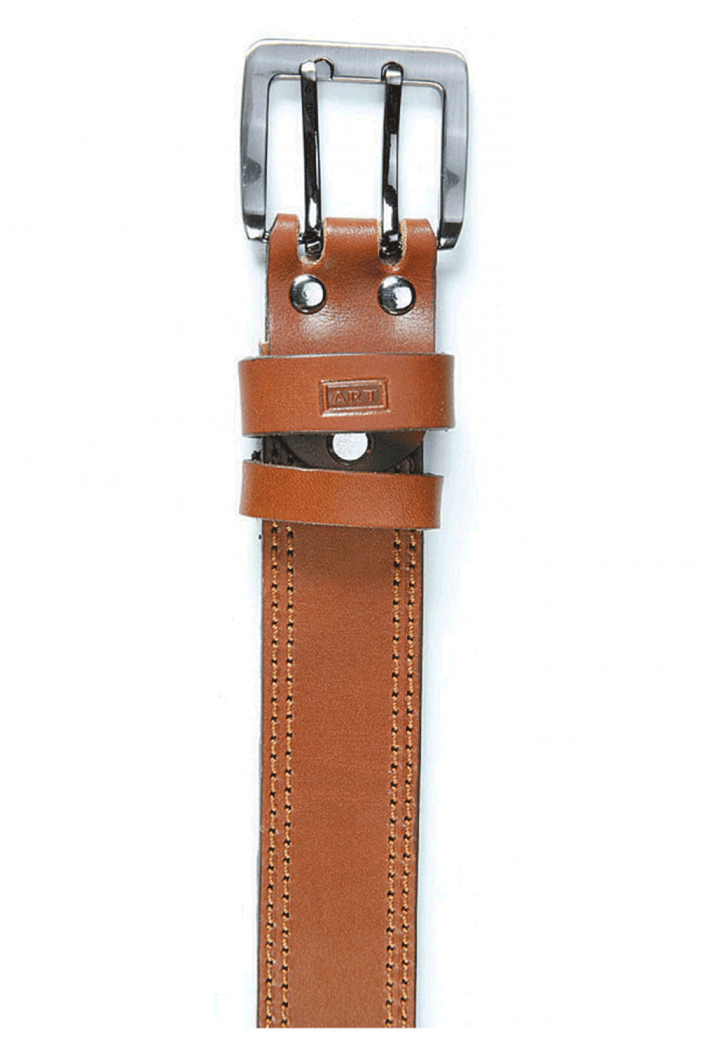 Sports Belt from natural skin from cowhide - 512001