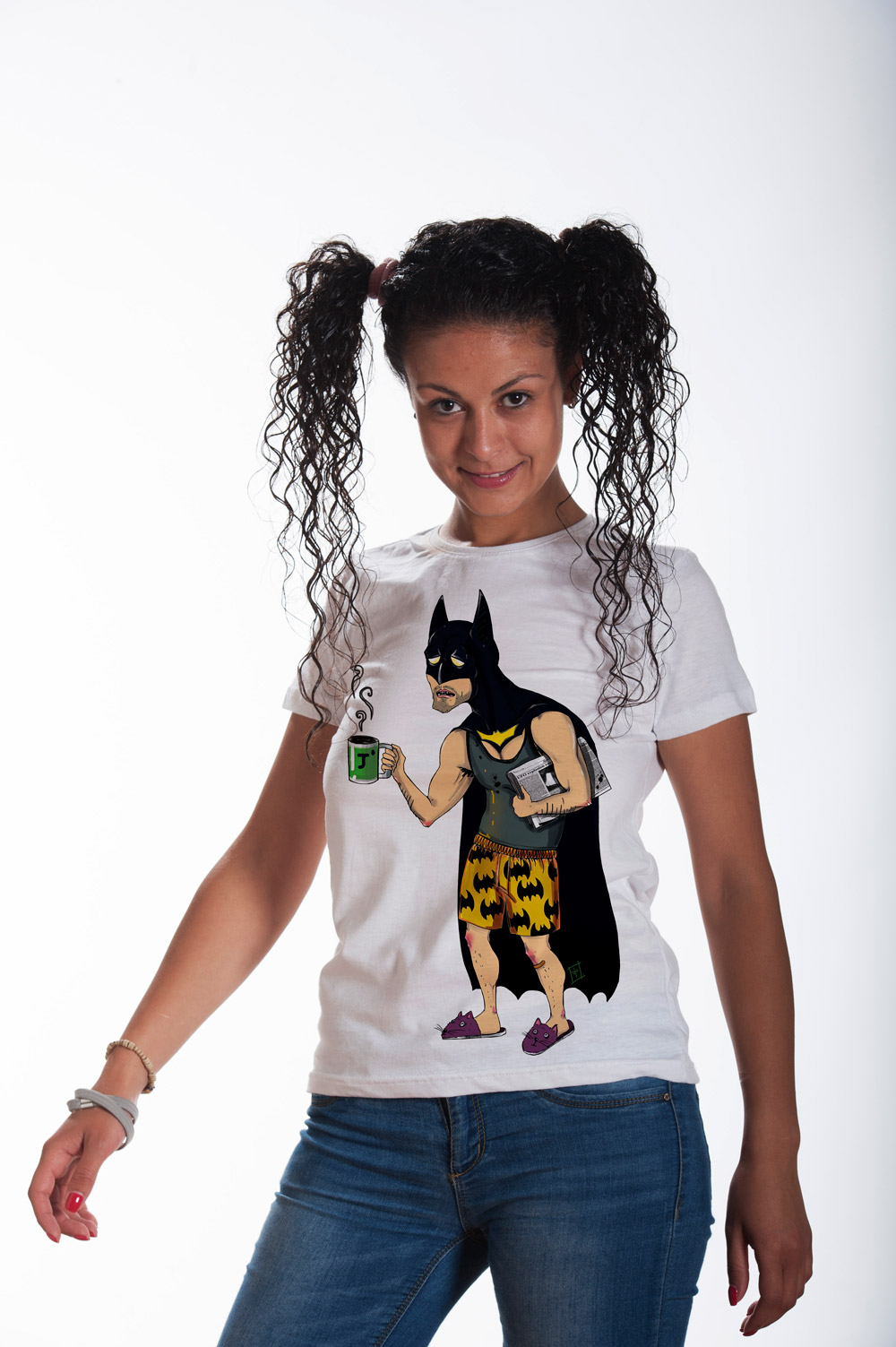 Batman with coffee T shirt | Batman Tee |  Funny Tee | Unisex Shirt