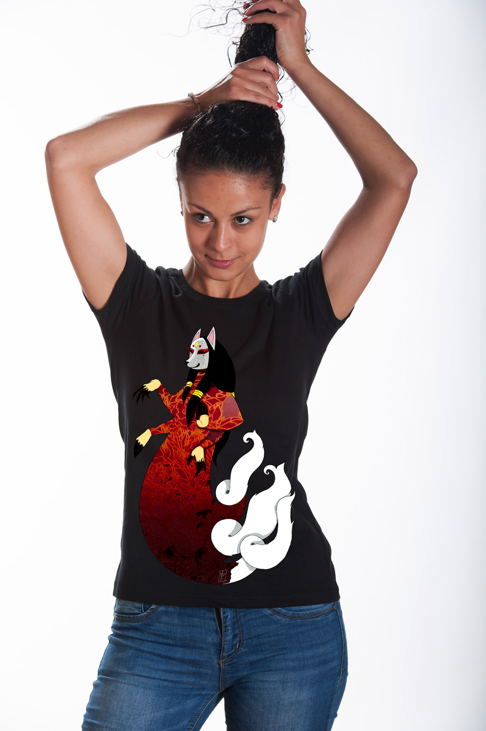 Kitsune T shirt | Mythic Tee | Fox Tshirt | Unisex Kitsune Shirt