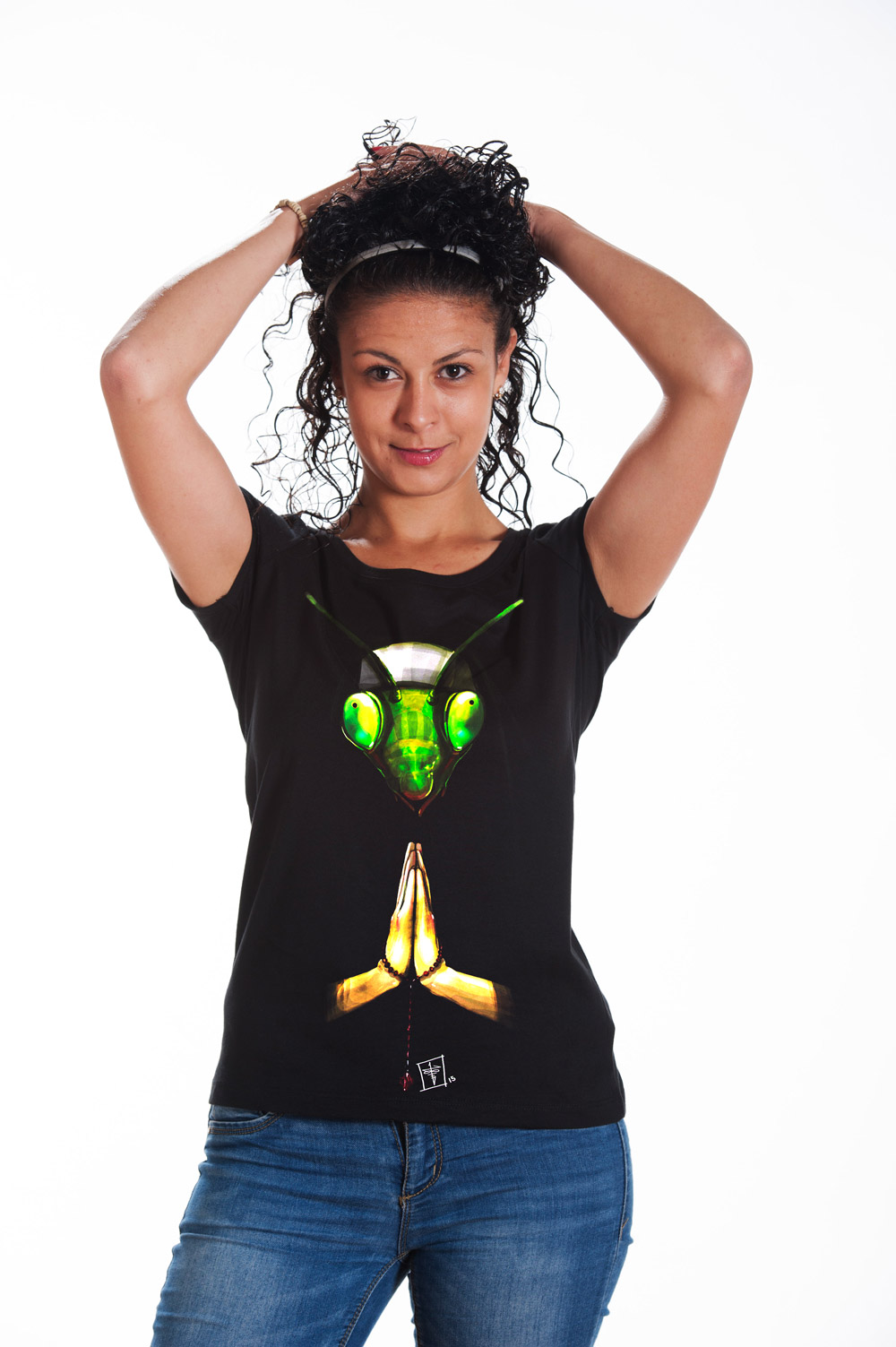 Praying Mantis 2 T shirt | Mythic Tee |  Mantis Tee | Unisex Shirt