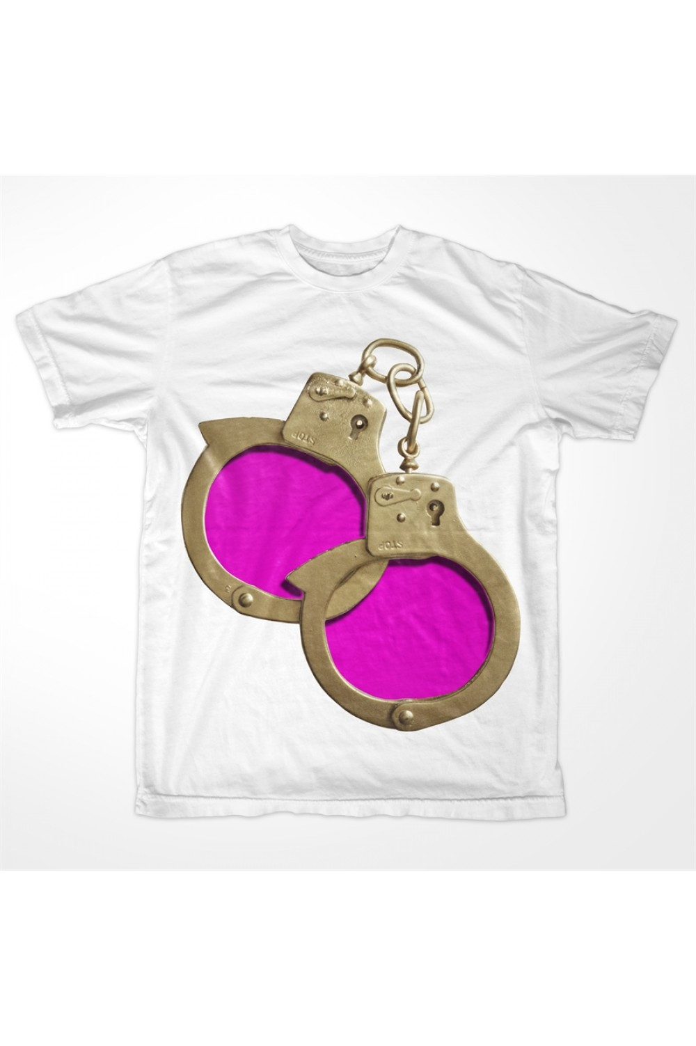 KABOX Men Printed T shirt Hand Cuffs