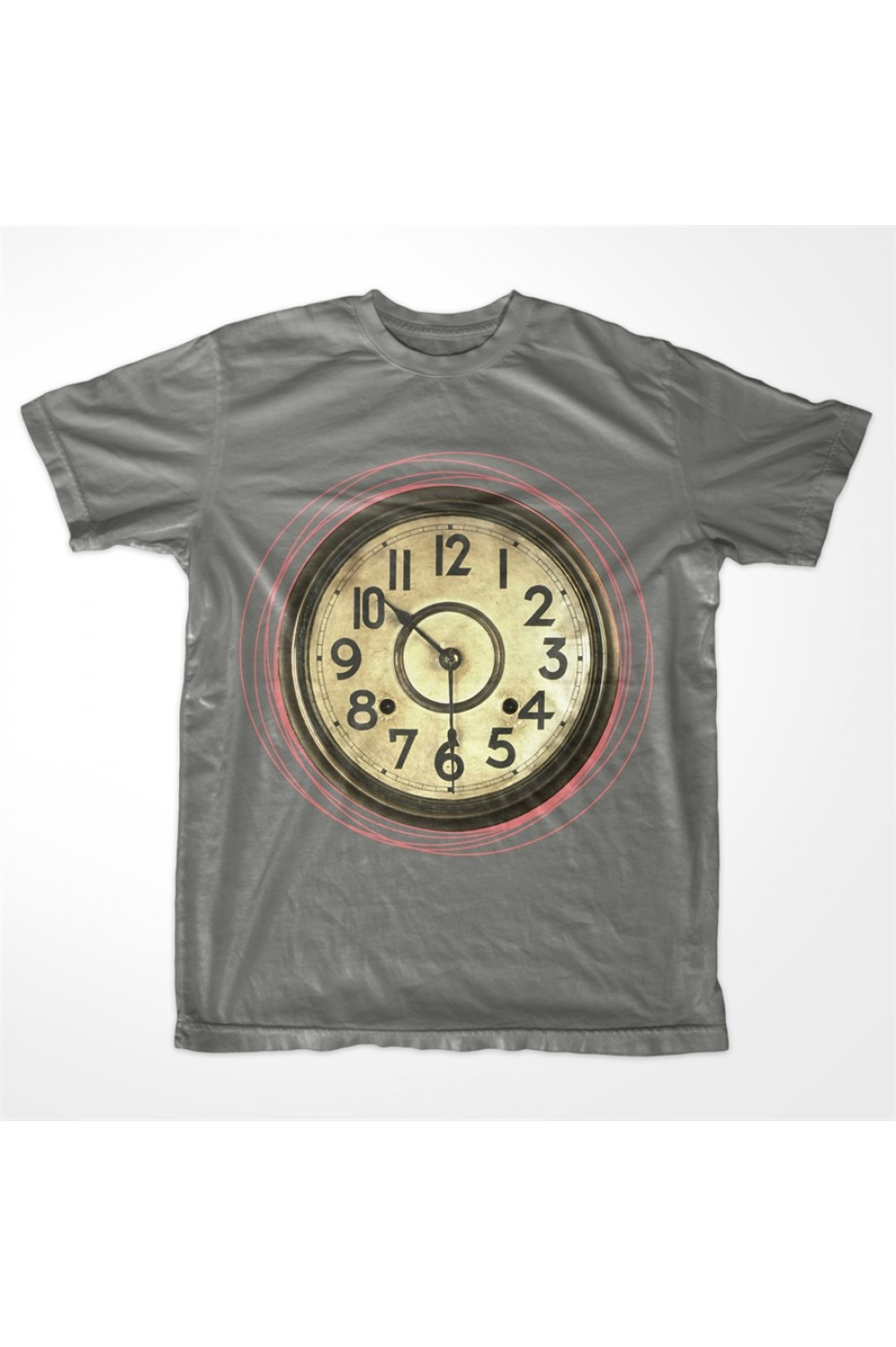 KABOX Men Printed T shirt Clock