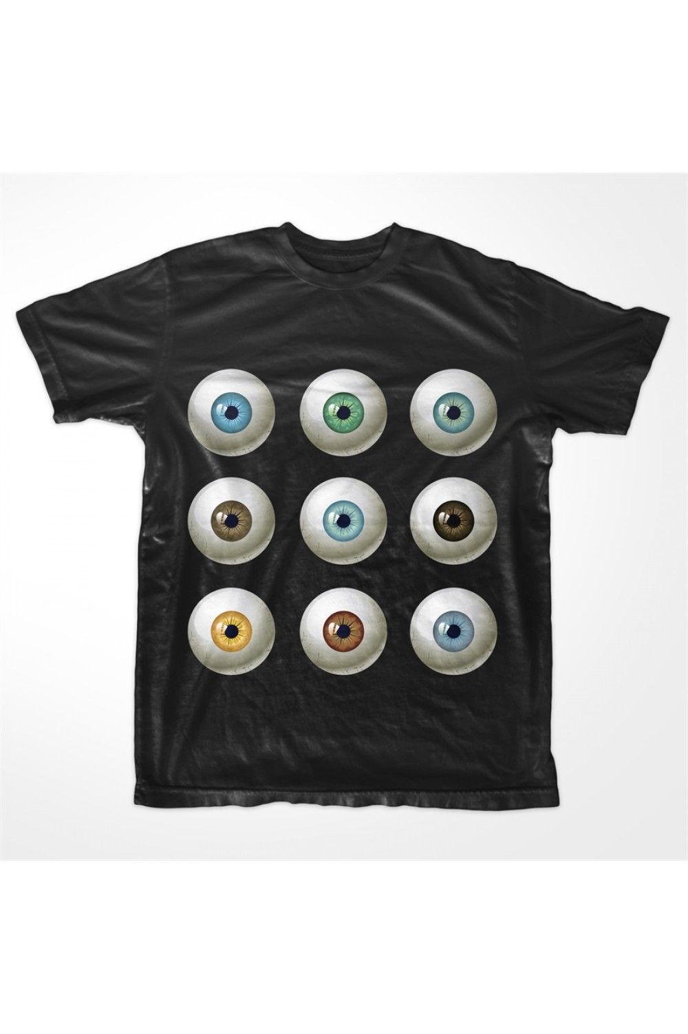 KABOX Men Printed T shirt Eyes