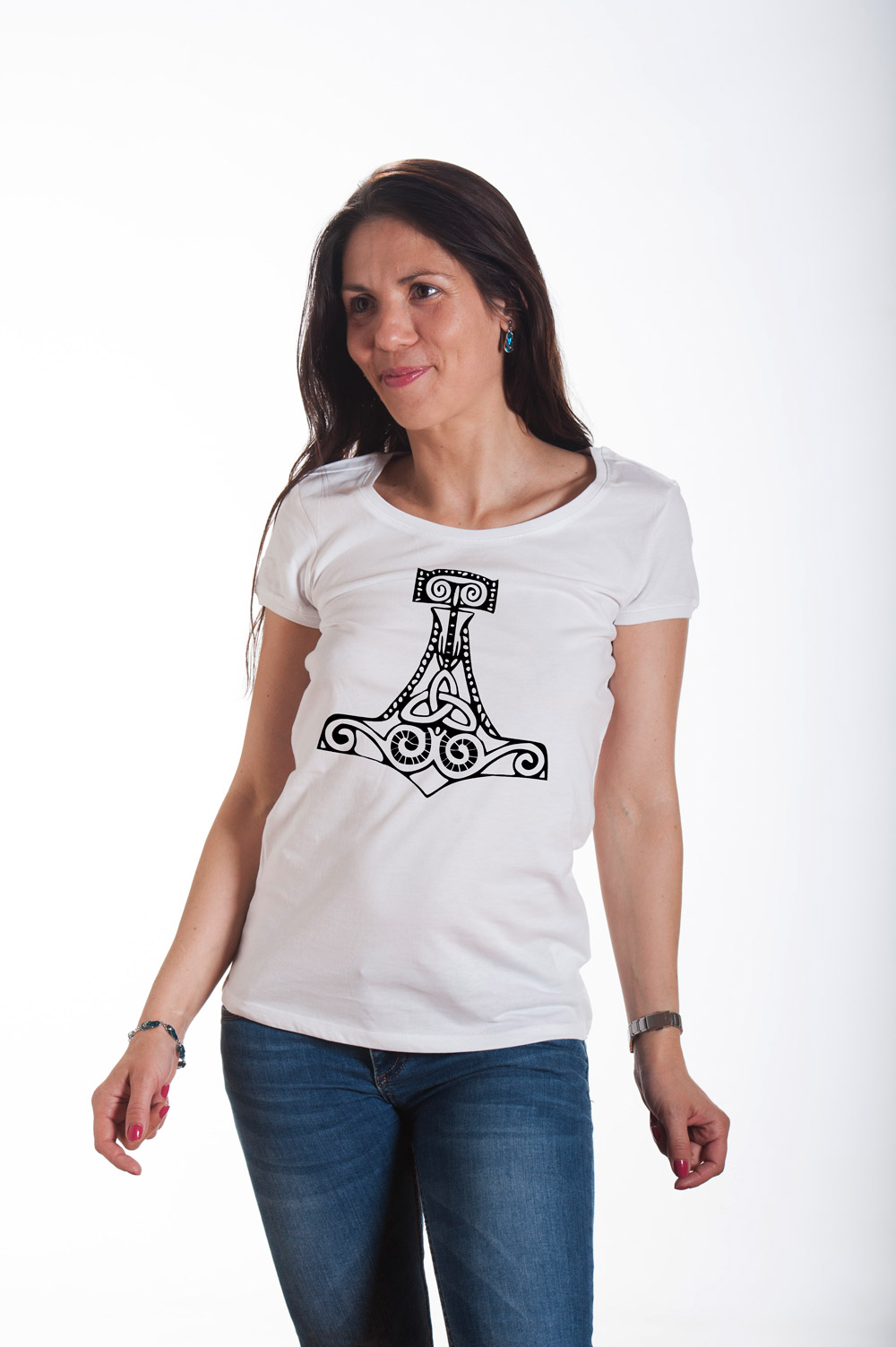 hammer of thor 2 t shirt norse mythology tee runes tshirt