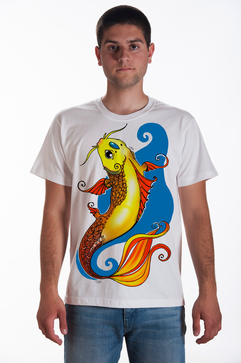 Koi Fish T shirt | Mythic Tee | Japanese Fish Tshirt | Unisex Fish Shirt