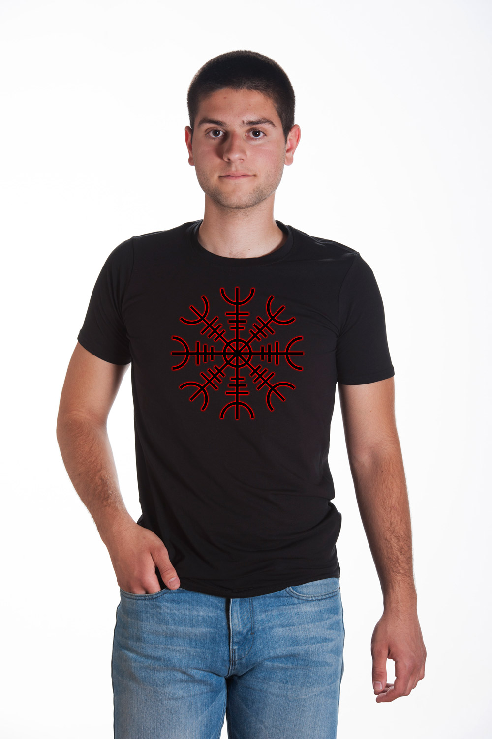 Runic Shield T shirt | Norse Mythology Tee | Runes Tshirt | Norse Shirt