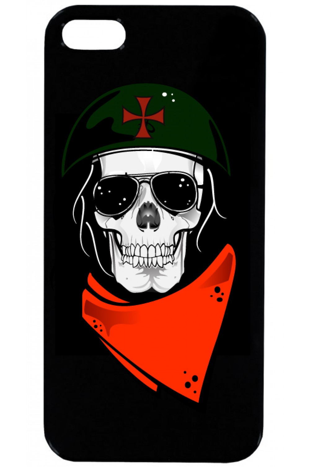 Phone Case - Skull with helmet