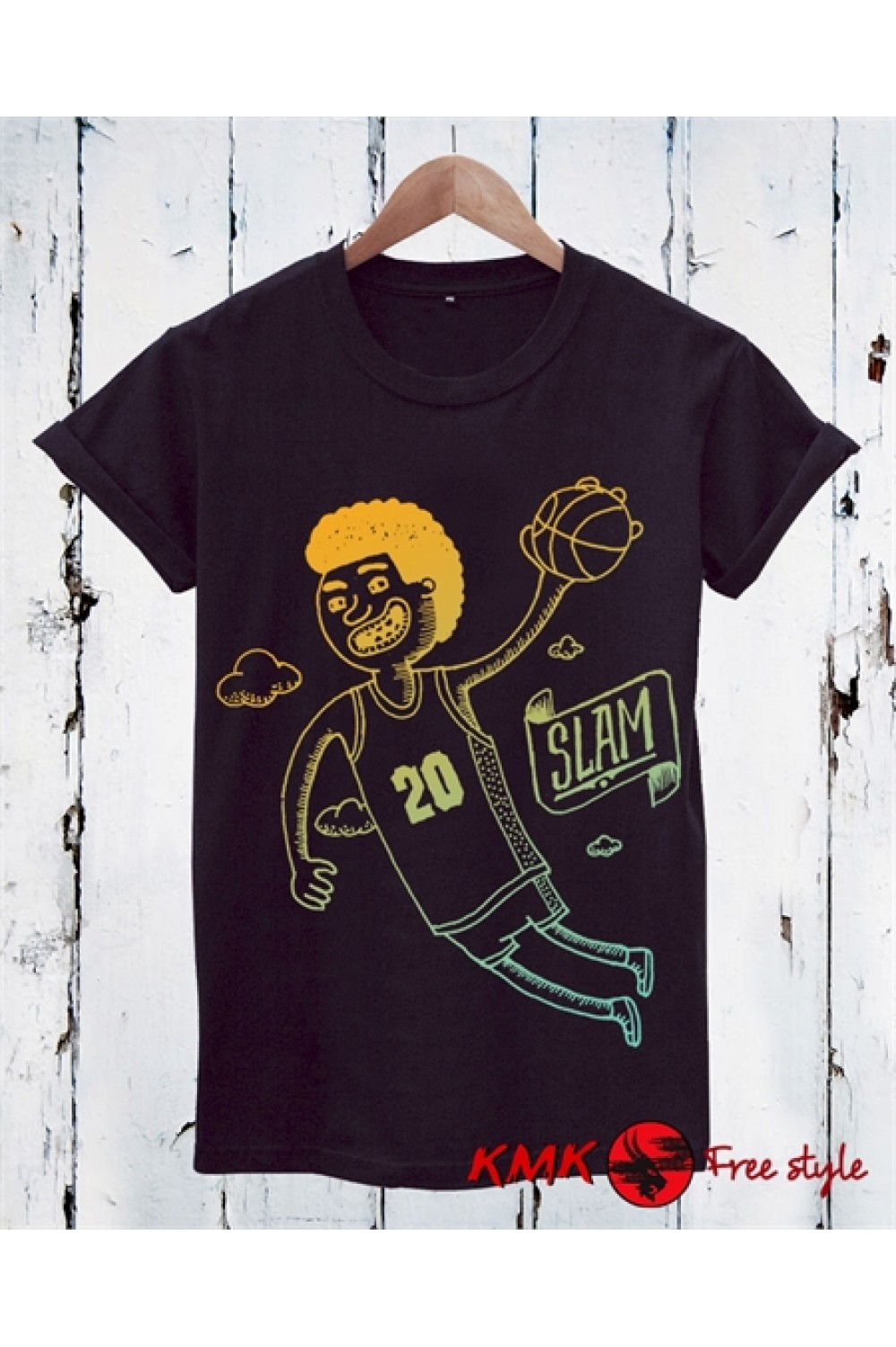 Slam Printed T shirt | Basketball Tanktop | Sport Tee | Motivation Shirt