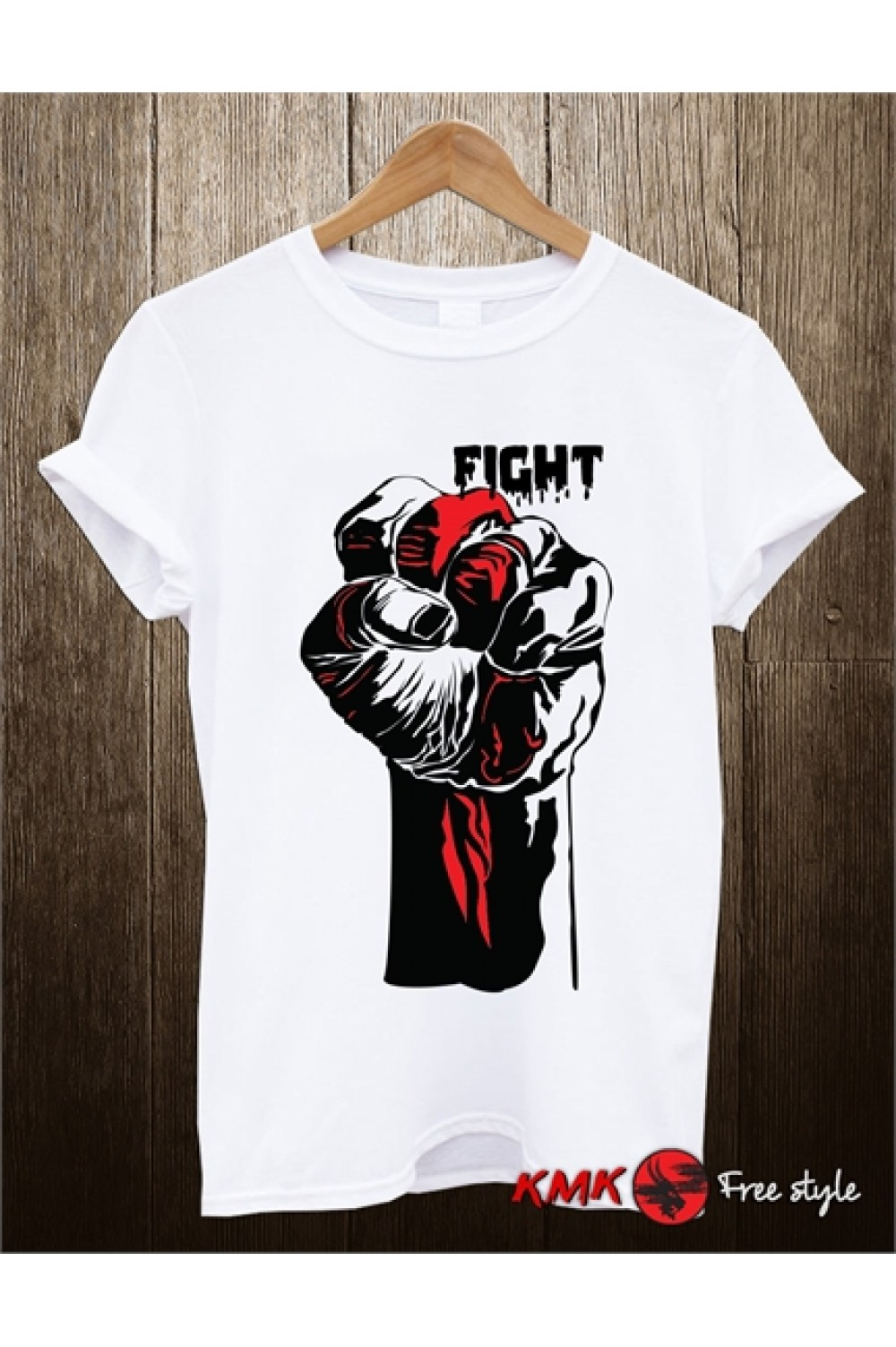 Fight Printed T shirt | Fighting Tee | Fist T-shirt | Short Sleeves Shirt