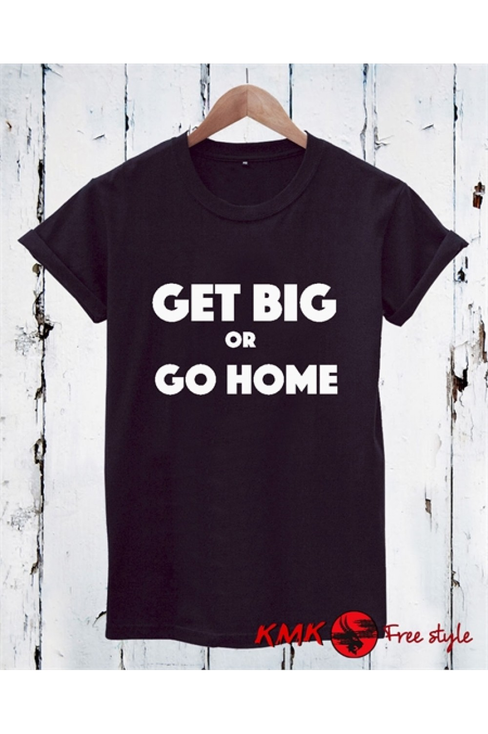 Get big or go home Printed T shirt | Gym Tanktop | Motivation Shirt