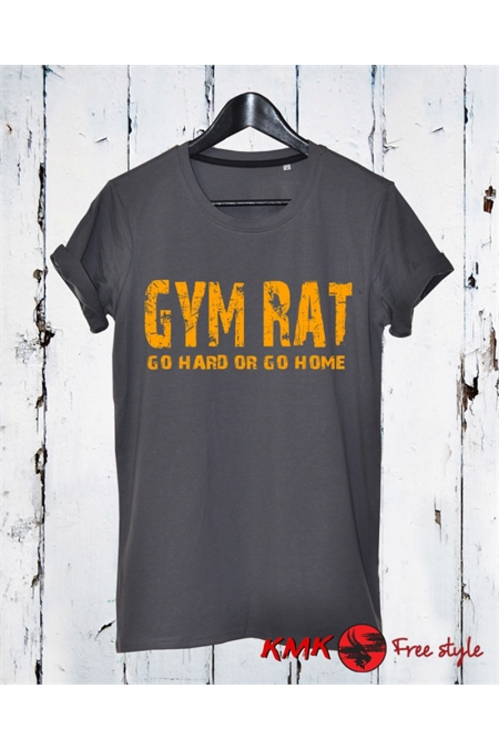 Gym Rat Printed T shirt | Go hard Tee | Gym T-shirt | Sports Tee