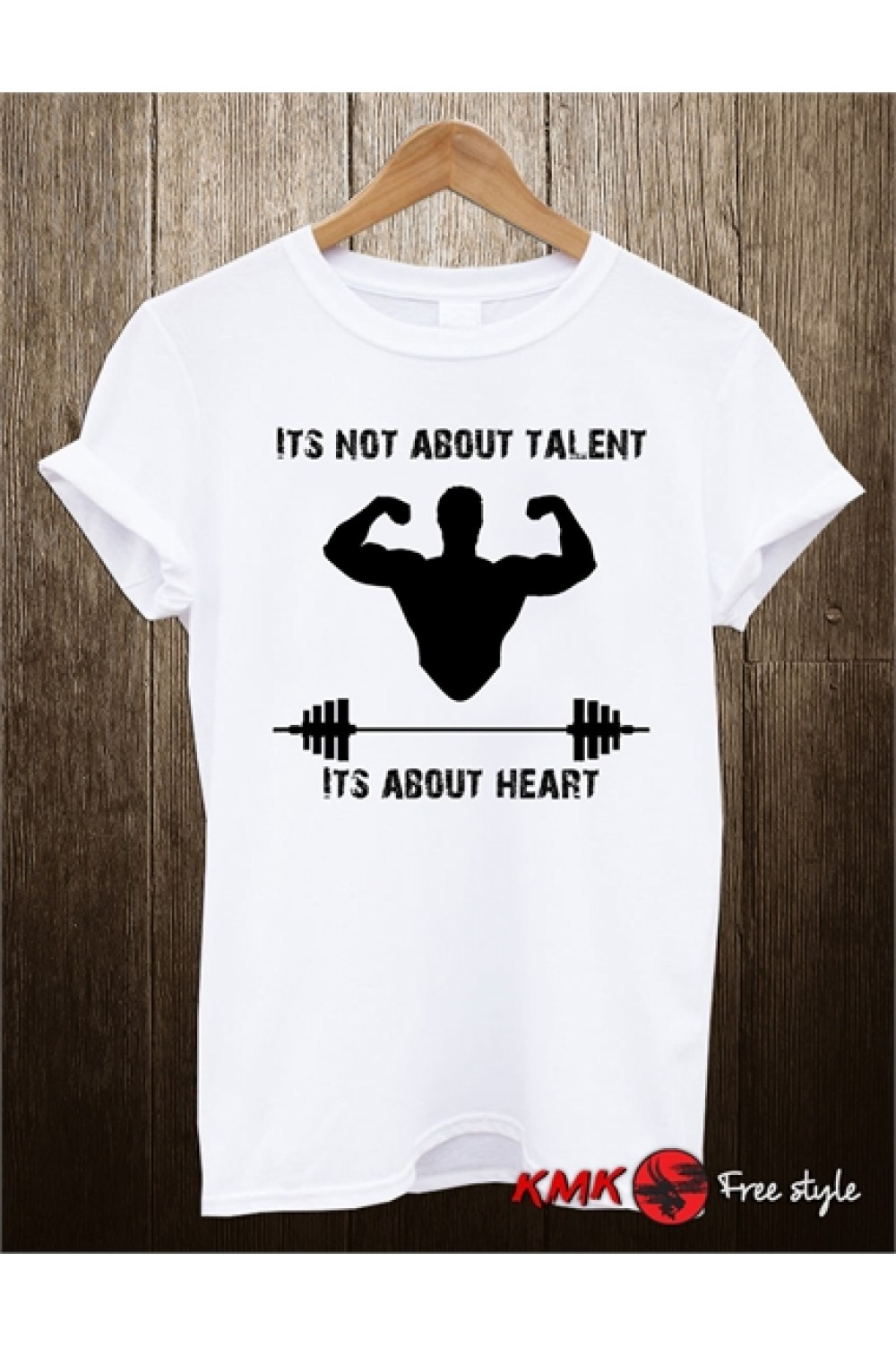It's about heart Printed T shirt | Motivation Tee | Fist T-shirt | Short Sleeves Shirt