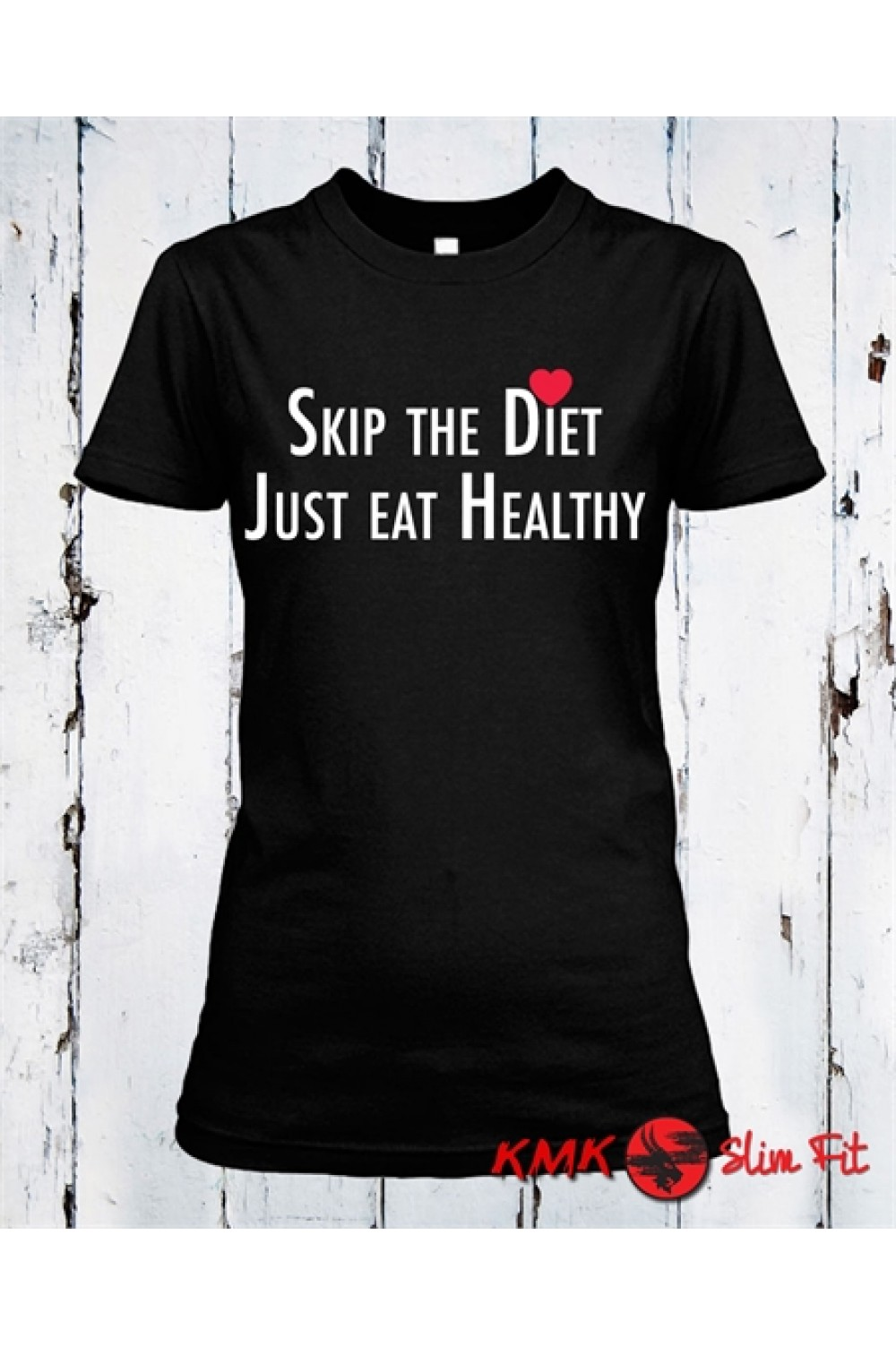 Skip the diet Printed T shirt | Sport lady Tee | Fitness T-shirt