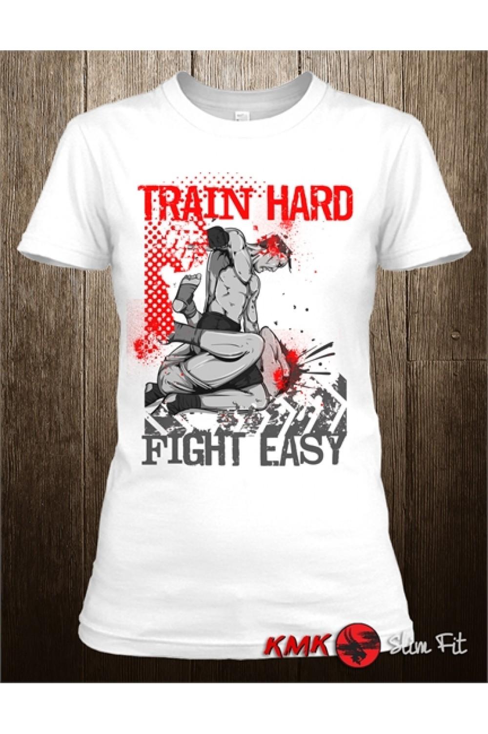37c4747aaac7b Train Hard Printed T shirt | Sport Tee | Fitness T-shirt | Long and Short  ...