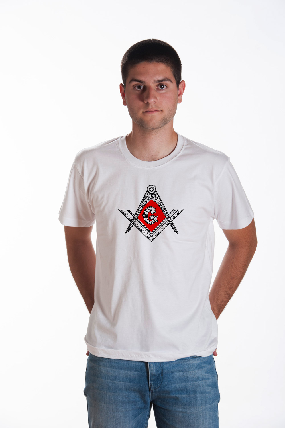 Masonic Symbol 1 Printed T shirt | Mason Tank top | Secret Society Tee