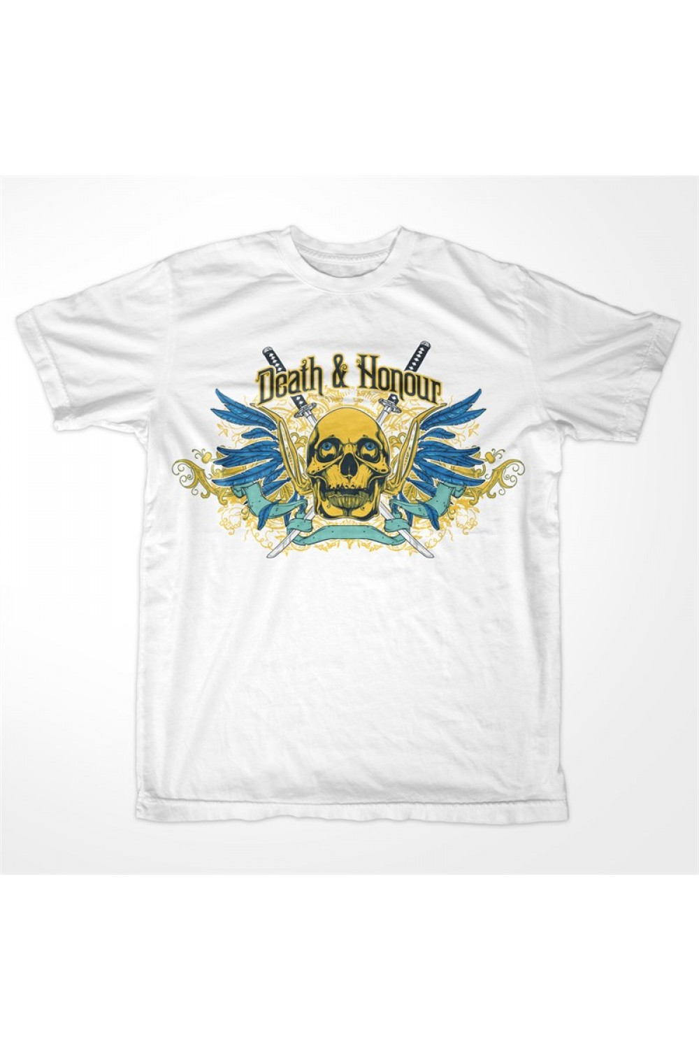 "Skulls Men Printed T-shirt 0046 ""Death & Honour"""