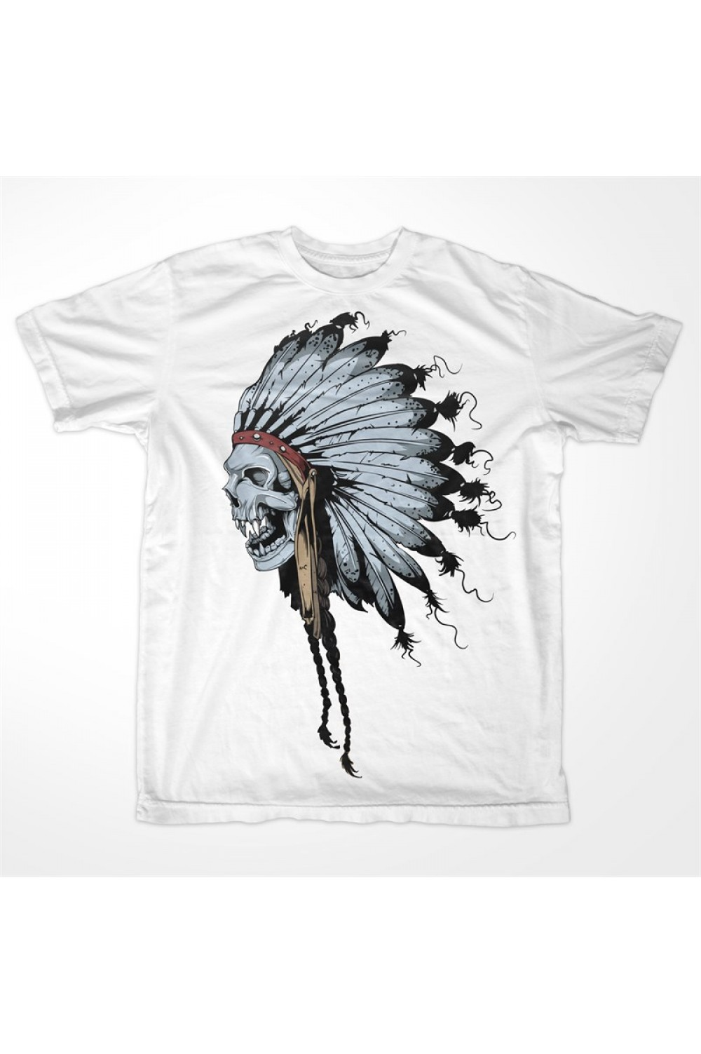 Indian Skull Men T shirt 4002