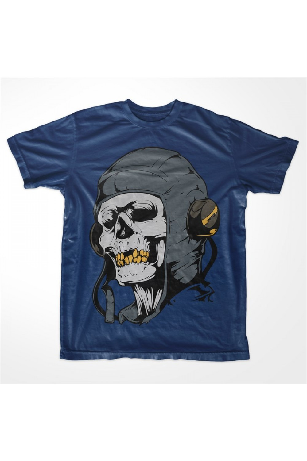 Music Skull Men Printed T-shirt 4003