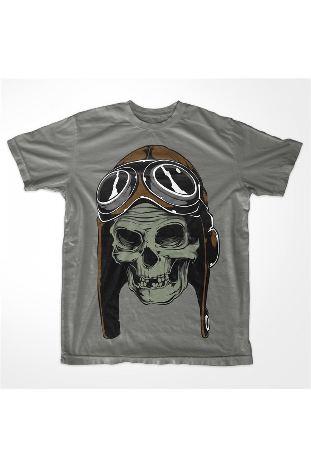 Pilot Skull Men Printed T-shirt 4005