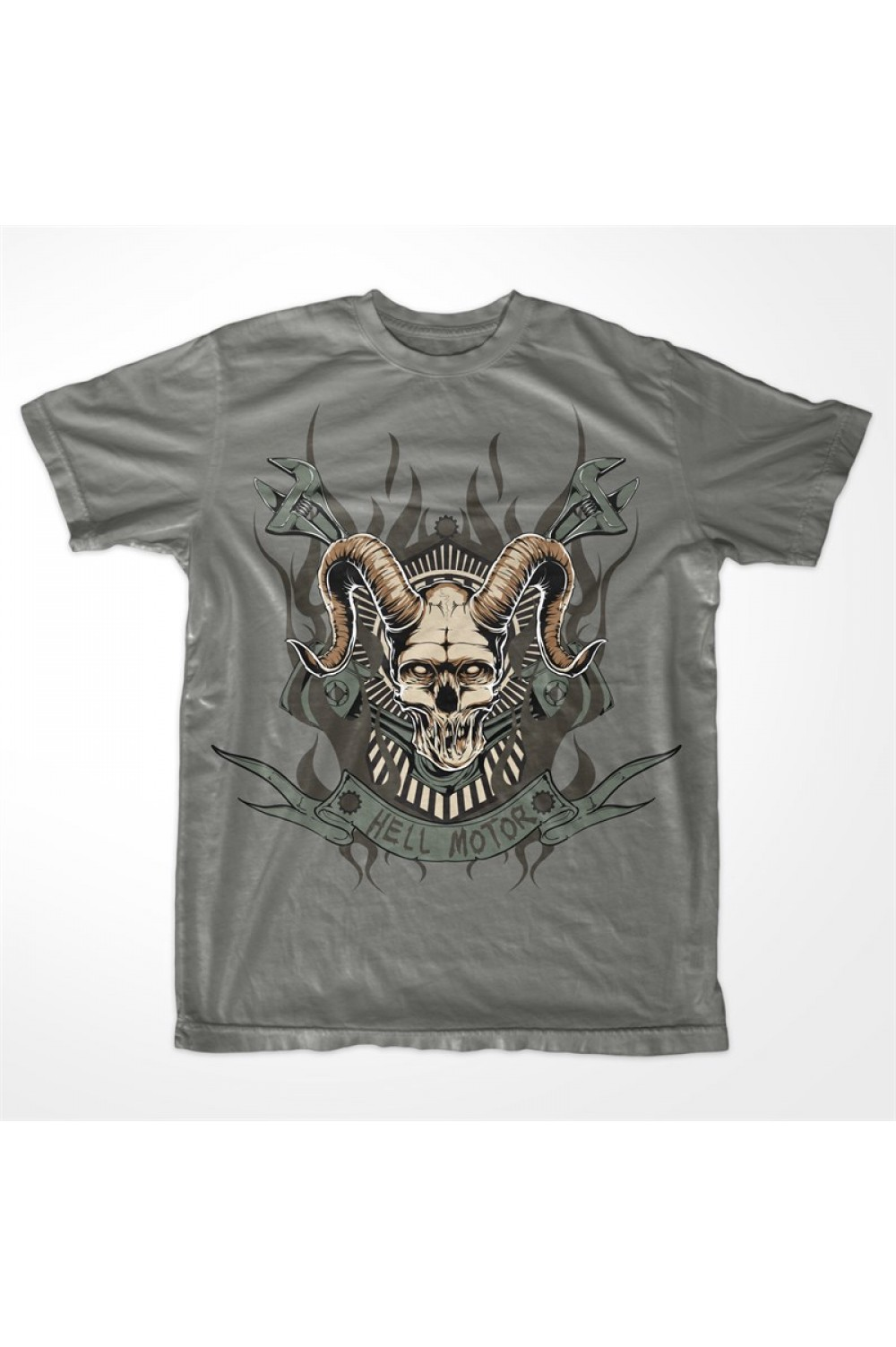 Skull Horns Men Printed T-shirt 4018