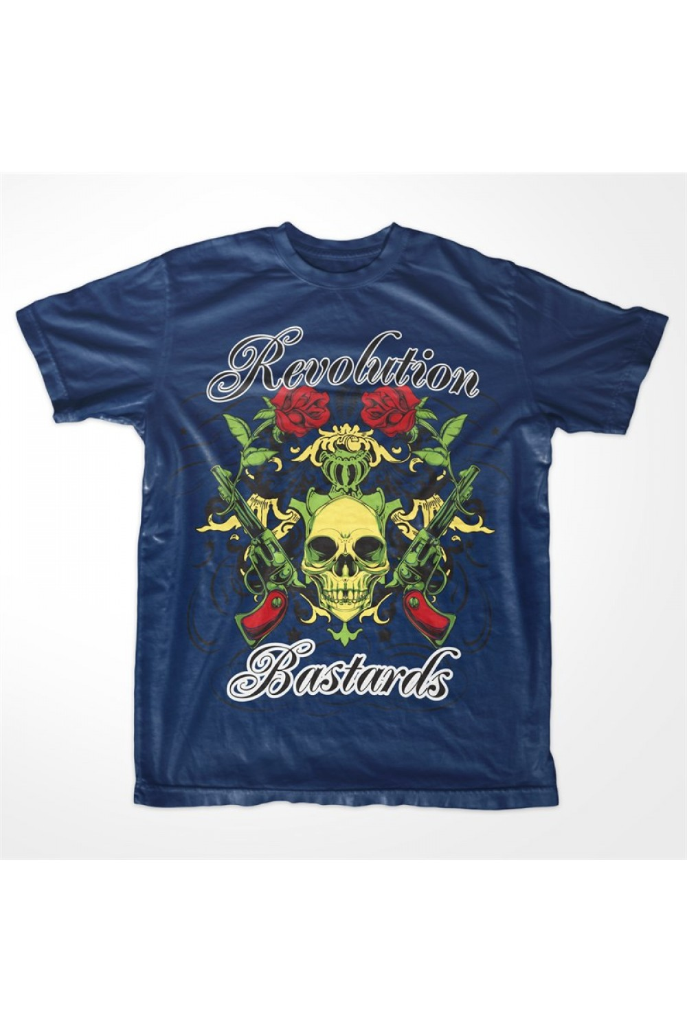 "Skulls Men Printed T-shirt 4020 ""Revolution Bastards"""
