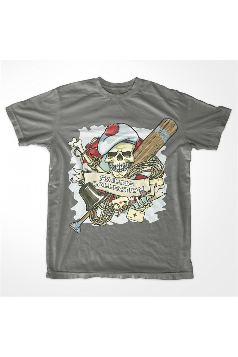 Pirate Skull Men Printed T-shirt 4024