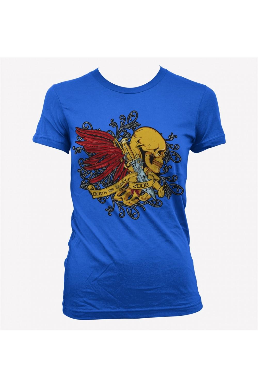 Skulls Lady Printed T Shirt 4001