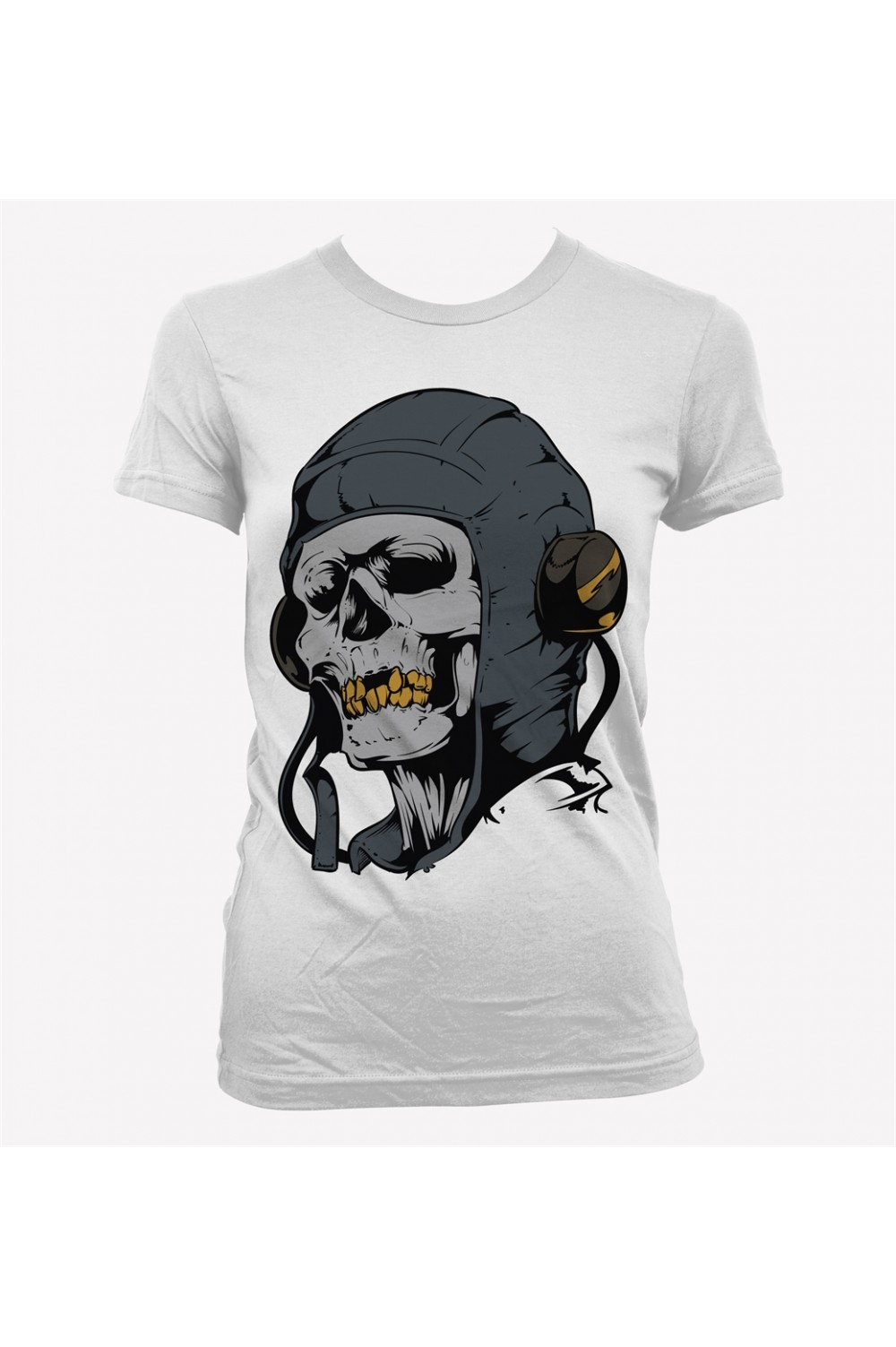 Headphone Skull Women Printed T shirt 4003