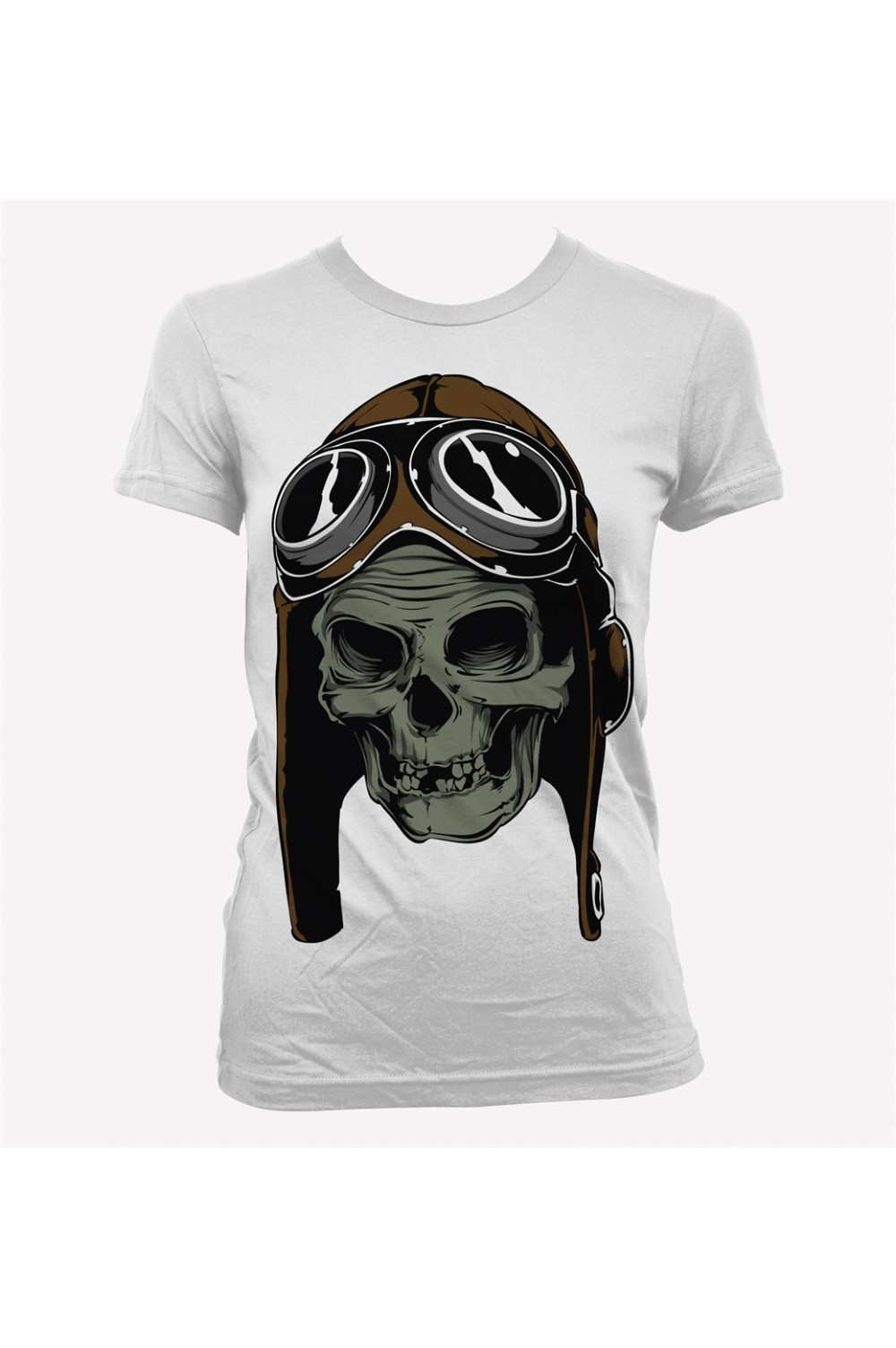 Skull Pilot Women Printed T shirt 4005