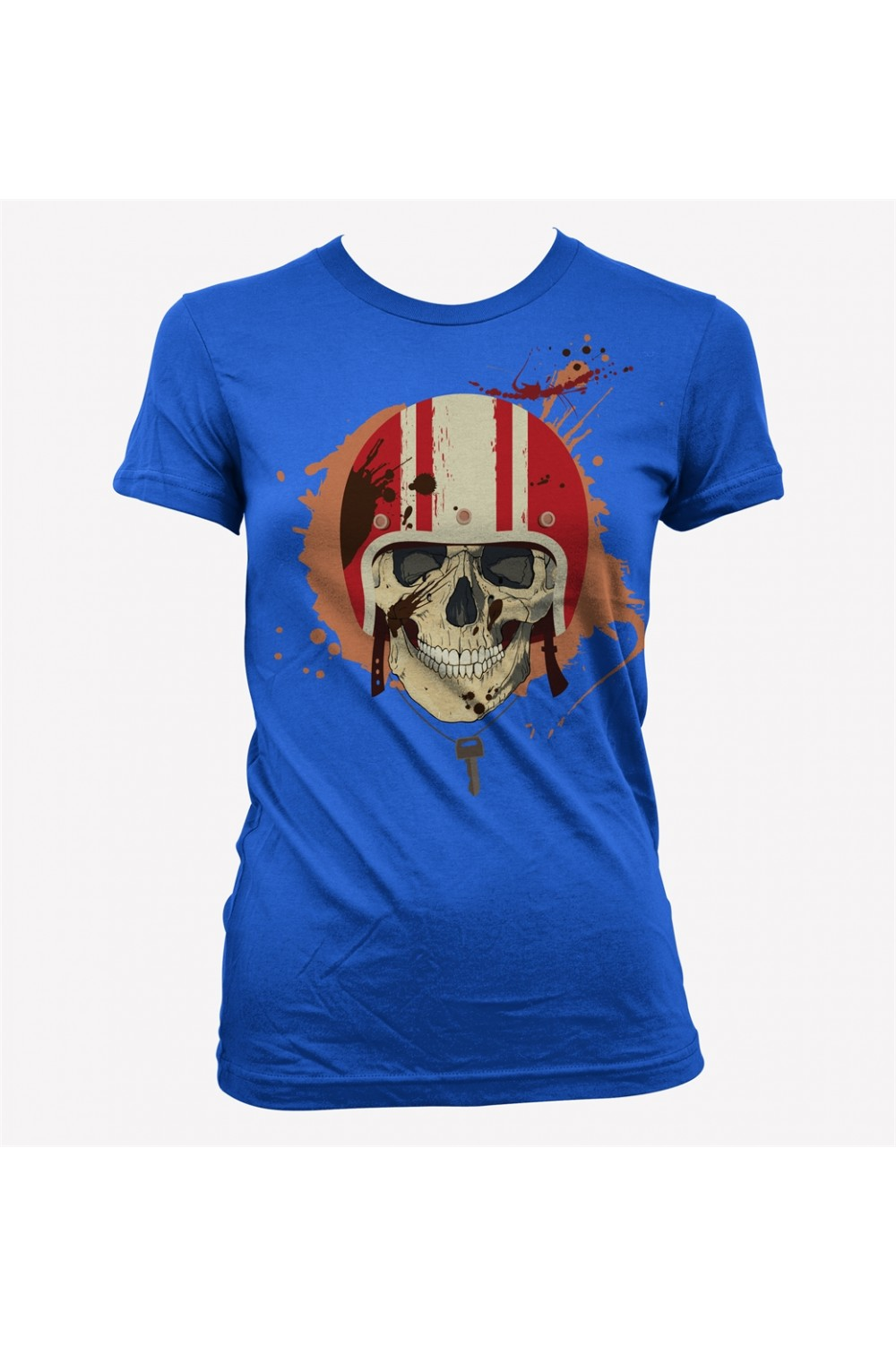 Skulls Women Racing T-shirt 4007B