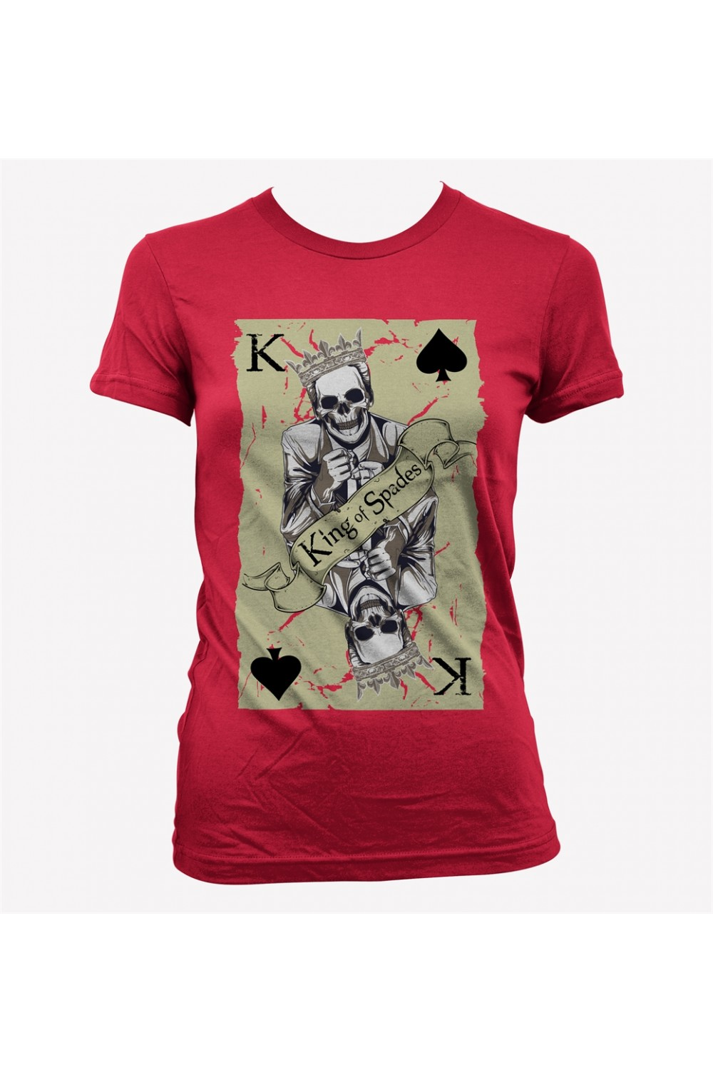 Card Skull Women T-shirt 4019
