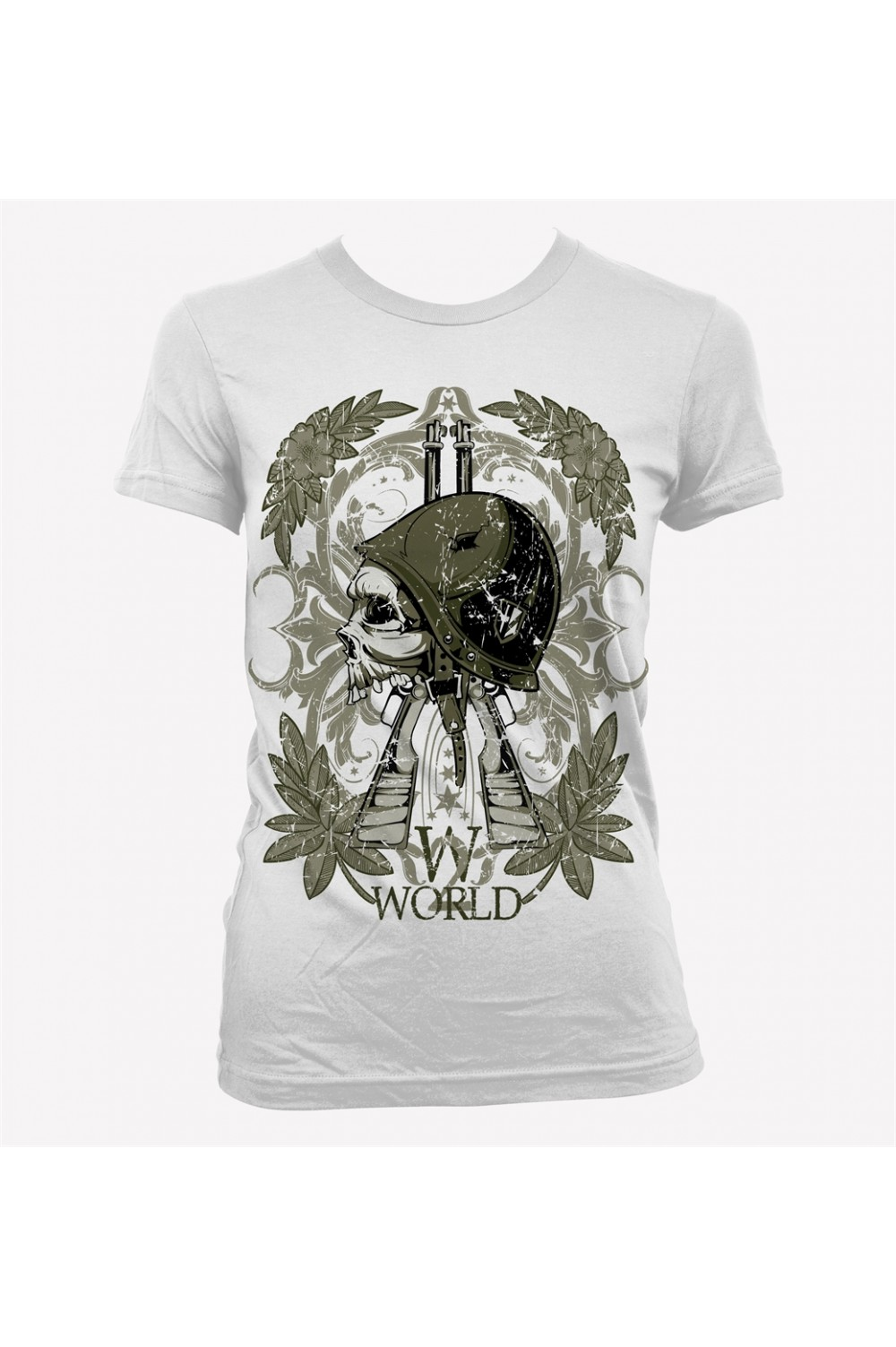 War Skull Women Printed T-shirt 4022