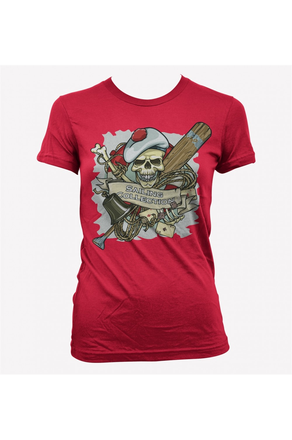 Pirate Women Printed T shirt 4024